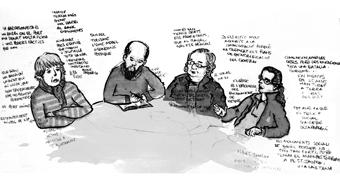 Conversa sobre els moviments socials als barris de Ciutat Vella
