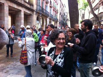 Cassolada de suport al CSA Can Vies a Ciutat Vella